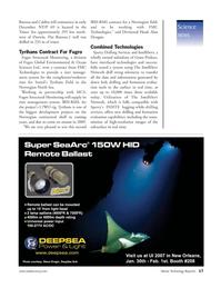 Marine Technology Magazine, page 17,  Jan 2007
