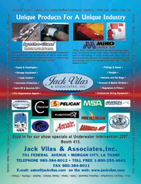 Marine Technology Magazine, page 1,  Jan 2007 Unique Industry Jack Vilas & AssociatesInc.