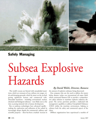 Marine Technology Magazine, page 30,  Jan 2007 chemical and biological ordnance