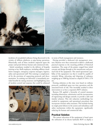 Marine Technology Magazine, page 31,  Jan 2007 safer and timelier solution
