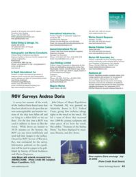 Marine Technology Magazine, page 43,  Jan 2007
