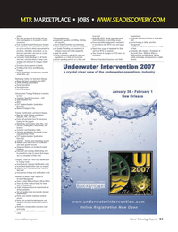 Marine Technology Magazine, page 61,  Jan 2007 rental equipment