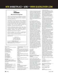 Marine Technology Magazine, page 62,  Jan 2007