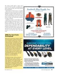 Marine Technology Magazine, page 19,  Mar 2007 Judy McDowell