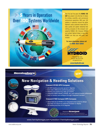 Marine Technology Magazine, page 21,  Mar 2007 Operation Over100 Systems Worldwide