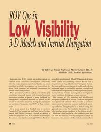 Marine Technology Magazine, page 24,  May 2008