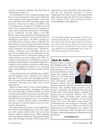 Marine Technology Magazine, page 41,  May 2008 Georgetown University