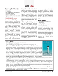 Marine Technology Magazine, page 49,  Jul 2008 SDS technology