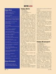 Marine Technology Magazine, page 52,  Jul 2008 Margo Newcombe