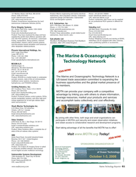 Marine Technology Magazine, page 61,  Jul 2008 Ontario