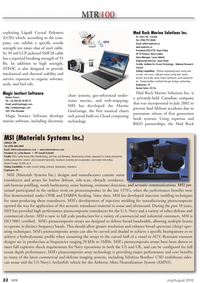 Marine Technology Magazine, page 22,  Jul 2010 piezocomposite array technology