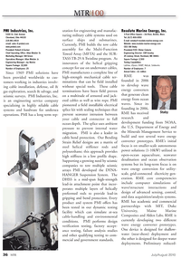 Marine Technology Magazine, page 36,  Jul 2010 Massachusetts
