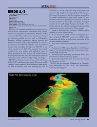 Marine Technology Magazine, page 57,  Jul 2010 7K transceiver systems