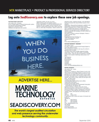 Marine Technology Magazine, page 46,  Sep 2010 Texas
