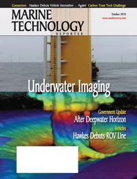 Marine Technology Magazine Cover Oct 2010 - Ocean Engineering & Design