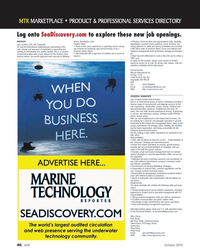 Marine Technology Magazine, page 46,  Oct 2010 database management