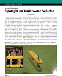 Marine Technology Magazine, page 22,  Nov 2010