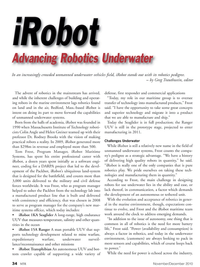 Marine Technology Magazine, page 34,  Nov 2010