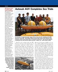 Marine Technology Magazine, page 14,  Apr 2011 Peter Stevenson