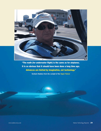 Marine Technology Magazine, page 29,  Apr 2011 Graham Hawkes
