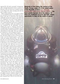 Marine Technology Magazine, page 49,  Apr 2011 Palau