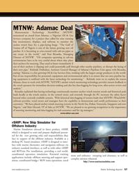Marine Technology Magazine, page 57,  Apr 2011 WinchDAC software