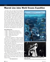 Marine Technology Magazine, page 10,  May 2011 Pacific Ocean