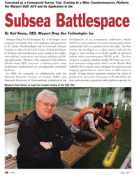 Marine Technology Magazine, page 38,  May 2011 Ontario