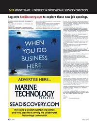 Marine Technology Magazine, page 62,  May 2011 operated vehicle technology