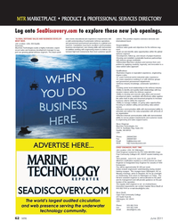 Marine Technology Magazine, page 62,  Jun 2011 high-tech instruments