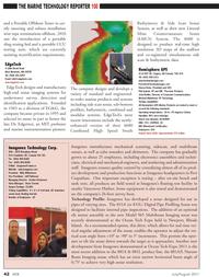 Marine Technology Magazine, page 42,  Jul 2011 Rhode Island