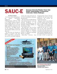 Marine Technology Magazine, page 12,  Sep 2011 German Research Center
