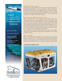Marine Technology Magazine, page 24,  Sep 2011 underwater vehicle products