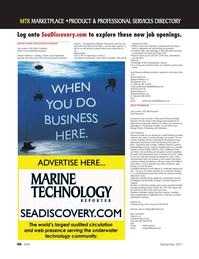 Marine Technology Magazine, page 46,  Sep 2011 sonar systems