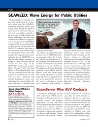 Marine Technology Magazine, page 8,  Oct 2011 Newfoundland