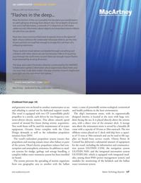 Marine Technology Magazine, page 17,  Oct 2011 in-water equipment