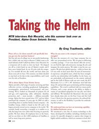 Marine Technology Magazine, page 34,  Oct 2011 Gulf of Mexico