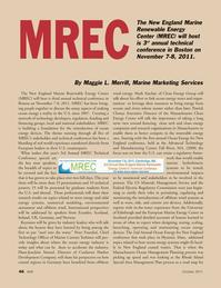 Marine Technology Magazine, page 46,  Oct 2011 Maggie L. Merrill
