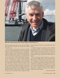 Marine Technology Magazine, page 47,  Oct 2011 Peter Fraenkel