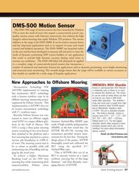 Marine Technology Magazine, page 57,  Oct 2011 tension measurement technology