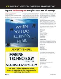 Marine Technology Magazine, page 62,  Oct 2011 Erika Chamblin