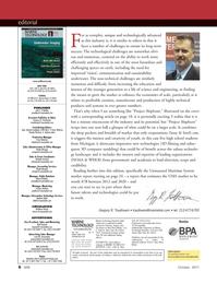 Marine Technology Magazine, page 6,  Oct 2011 Edward Lundquist