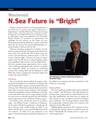 Marine Technology Magazine, page 14,  Nov 2011