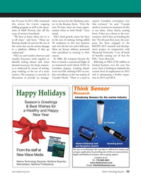 Marine Technology Magazine, page 23,  Nov 2011