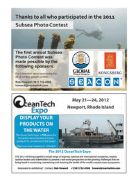 Marine Technology Magazine, page 3rd Cover,  Nov 2011