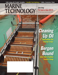 Marine Technology Magazine Cover Jan 2012 - Offshore Inspection, Repair & Maintenance
