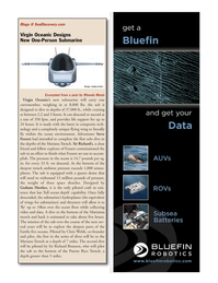 Marine Technology Magazine, page 9,  Jan 2012 Graham Hawkes