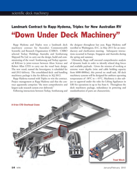 Marine Technology Magazine, page 14,  Jan 2012 scientific deck machinery
