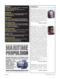 Marine Technology Magazine, page 4,  Jan 2012 Connecticut