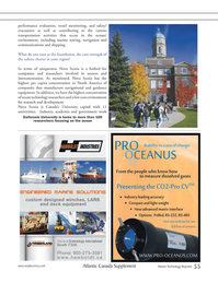 Marine Technology Magazine, page 55,  Mar 2012 ocean technology researchers